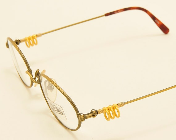 Jean Paul Gaultier 55-5101 oval shape / extravagant details / 90s model / NOS / Made in Japan / Vintage eyeglasses