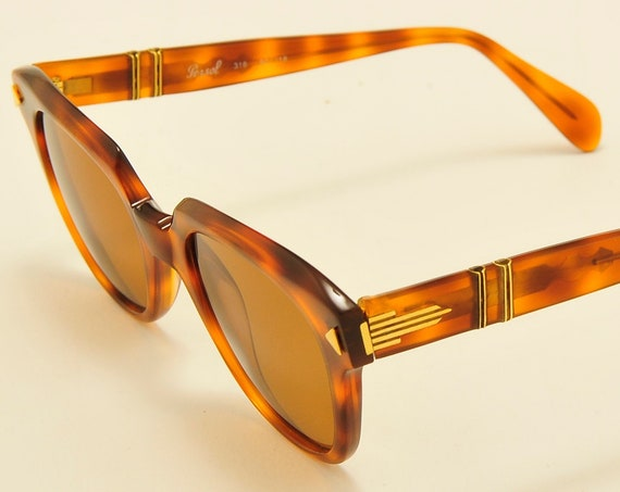Persol Ratti mod.316  hand made frame / havana shade / NOS / 18KT Gold Plating / CARL ZEISS Polarized Lenses / Vintage sunglasses 2