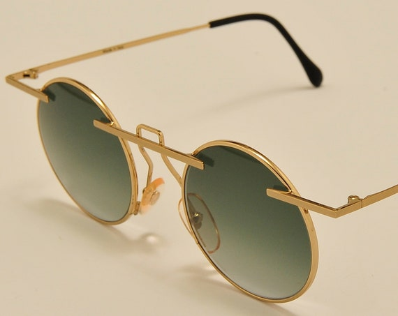 TAXI mod.222 C05 by Casanova round shape / golden frame / masterpiece design / craftsmanship / 80s / Made in Italy / Vintage sunglasses