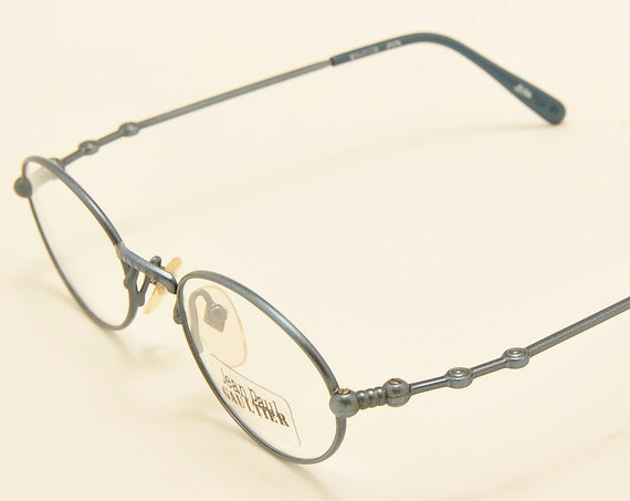 Jean Paul Gaultier 55-7106 oval shape / stylish frame / demo lenses / Made in Japan / 90s model / NOS / Vintage eyeglasses