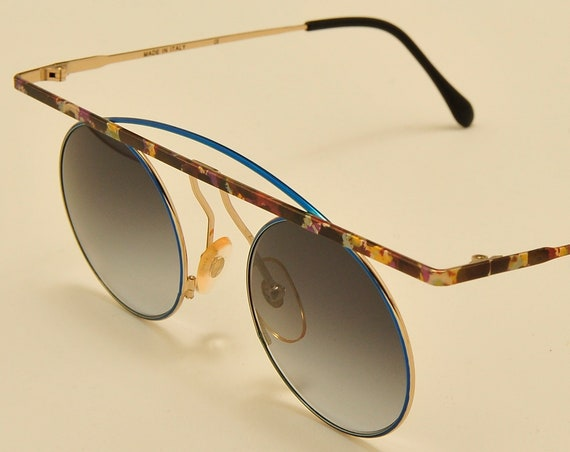 TAXI mod.205 C05 by Casanova round shape / nice colors details frame / masterpiece design / NOS / 80s / Made in Italy / Vintage sunglasses