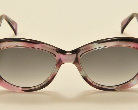 "Serge Kirchhofer ""mod.96"" oval shape / 70s masterpiece / Made in Austria / NOS / gray gradient lenses / Vintage sunglasses"