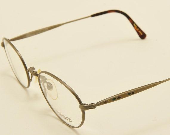 MATSUDA AS2854 oval shape / exclusive metal frame / sides color details / Made in Japan / NOS / handmade / demo lenses / Vintage eyeglasses