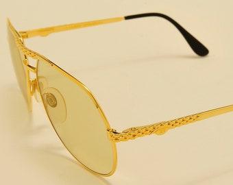 a99007201cf ETTORE BUGATTI EB 502 S aviator teardrop shape   golden frame   Ultra Rare    Made in Italy   exclusive luxury design   Vintage sunglasses