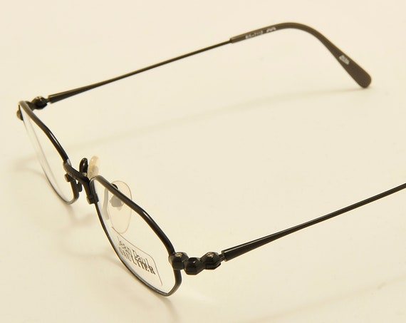 Jean Paul Gaultier 55-7112 octagonal shape / black metal frame / Made in Japan / 90s model / NOS / demo lenses / Vintage eyeglasses