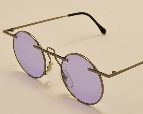 TAXI mod.222 C04 by Casanova round shape / metal frame / masterpiece design / craftsmanship / 80s / Made in Italy / Vintage sunglasses