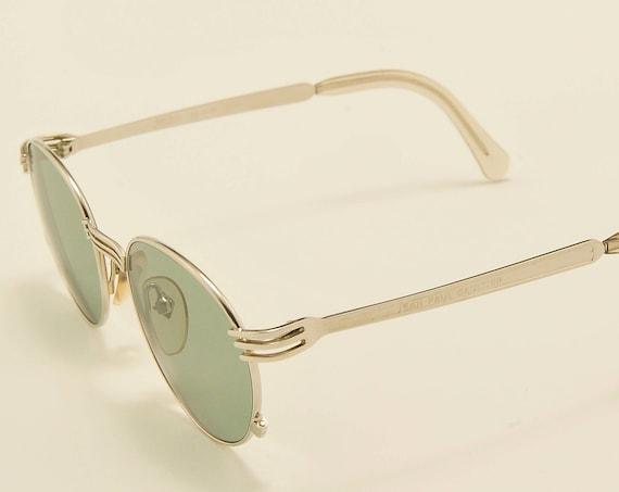 Jean Paul Gaultier 55 3174 round shape / stell frame / unique design / 90s model / NOS / Made in Japan / Vintage sunglasses
