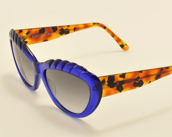 Robert La Roche mod. S 137 (blue) cat eye shape / acetate frame / 80s / NOS / Made in Austria / Vintage sunglasses
