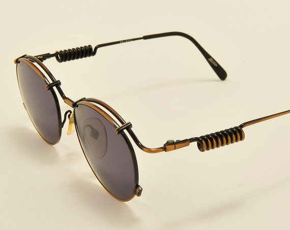 Jean Paul Gaultier 56 9174 round shape / rare side spring frame / 90s model / NOS / Made in Japan / new lenses / Vintage sunglasses