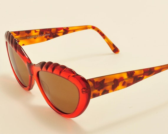 Robert La Roche mod. S 137 (red) cat eye shape / acetate frame / 80s / NOS / Made in Austria / Vintage sunglasses