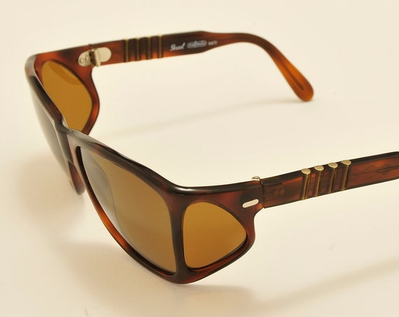 "Persol Meflecto Ratti ""002 tortoise"" rare squared shape / 4 lenses frame / Made in Italy / Persol polarized lenses / Vintage sunglasses 1"