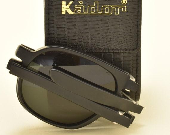 KADOR M-7007 folding sunglasses / high quality acetate frame / aviator shape / handmade in Italy / sophisticated taste / NOS / 90s
