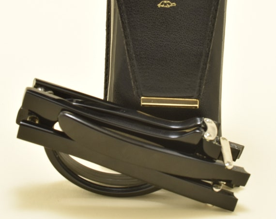 KADOR folding reading glasses / black shine acetate frame / handmade in Italy / NOS / 90s