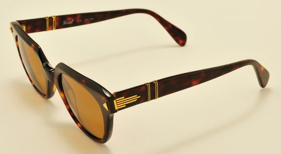 Persol Ratti mod.316 / hand made frame / Havana shade / NOS / 18KT  Gold Plating / CARL ZEISS Polarized Lenses / Vintage sunglasses