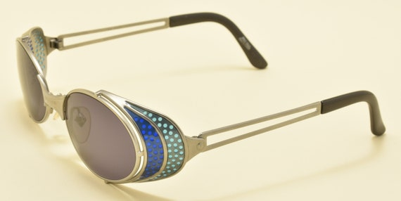 Jean Paul Gaultier 56-7109 oval shape / metallic  frame / rare model / amazing details / NOS / 90s / Made in Japan / Vintage sunglasses