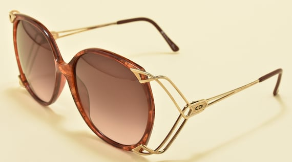 Christian Dior 2616 30 oversized shape / golden and optyl frame / fine details / 80s / NOS / Made in Germany / Vintage sunglasses