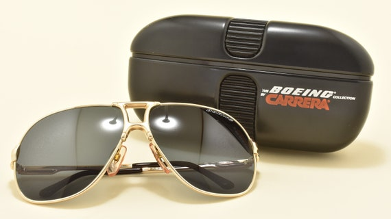 Boeing 5700 by Carrera aviator pilot shape / golden metal frame / Made in Austria / High quality and life style / NOS / Vintage sunglasses
