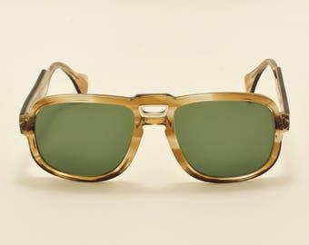 74744e9093fcf Serge Kirchhofer mod.26 aviator square shape   acetate frame   rare 70s  masterpiece   NOS   Made in Austria   Vintage sunglasses
