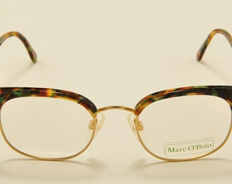 52713a6a0af43 Marc O Polo 3343 by Metzler clubmaster shape   acetate colors frame   80s  model   NOS   Made in Germany   demo lenses   Vintage eyeglasses