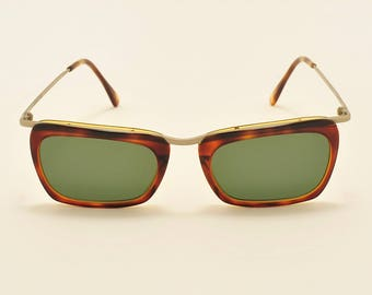 b269e7fe0f ROMEO GIGLI RG40 squared shape   light metal and acetate frame   90s model    NOS   Made in Italy   new lenses   Vintage sunglasses