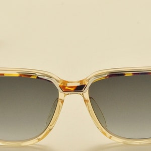 Marwitz Portrait squared shape  acetate frame  amazing tortoise green shades  70s  NOS  Polarized Lenses  Vintage sunglasses