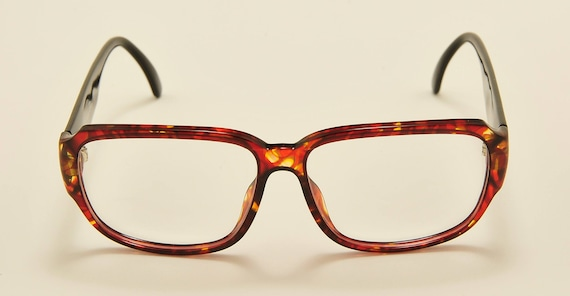 Christian Dior 2613 squared shape / optyl bicolored frame / 80s model / NOS / Made in Germany / Vintage eyeglasses