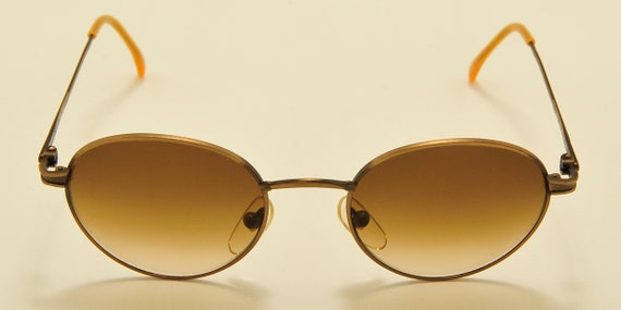 "Barbara Allen ""mod.3021"" round shape / bronze frame / Made in Italy / 90s model / NOS / Vintage sunglasses"