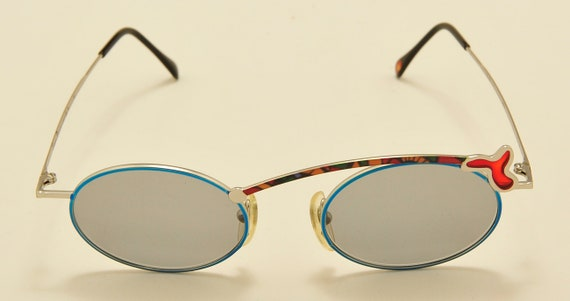 "Casanova ""FC23""  rare frame / oval shape / Made in Italy / NOS / 80s model / special details / Vintage sunglasses"