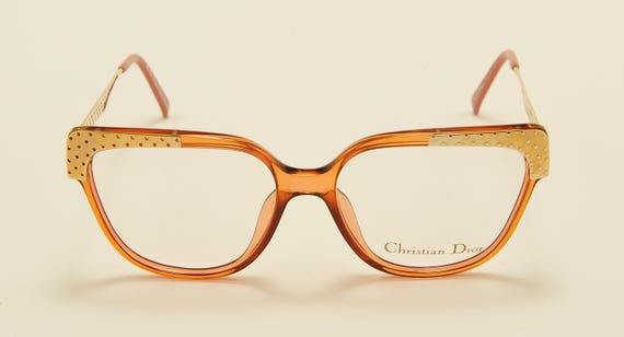 Christian Dior 2375 classic shape / optyl and golden frame / sophisticated taste / 80s model / NOS / Made in Germany / Vintage eyeglasses