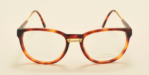 Gian Marco Venturi mod.404 classic shape / tortoise acetate frame / golden details / 80s model / NOS / Made in Italy / Vintage eyeglasses