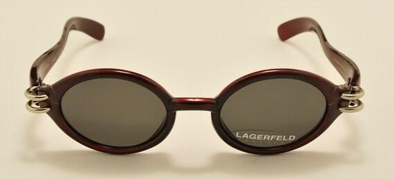 LAGERFELD 4131 30 oval shape / 90s model / NOS / Made in France / original lenses / Vintage sunglasses