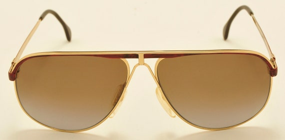 Carl Zeiss 9291 aviator shape / golden frame / 80s model / luxury taste / Carl Zeiss Polarized Lenses / Vintage sunglasses