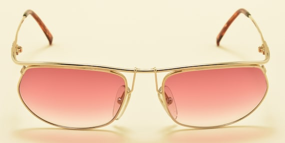 Christian Dior 2629 easy rider shape / light golden frame / 80s / NOS / pink gradient lenses / Made in Austria / Vintage sunglasses