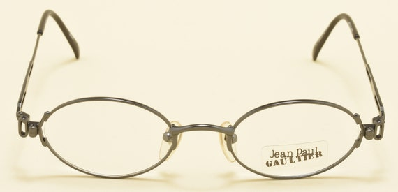 Jean Paul Gaultier 55-7109 oval shape / metal frame / original design / JPG details / NOS / Made in Japan / Vintage eyeglasses