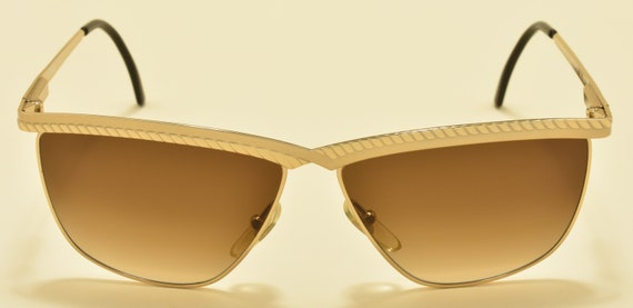 Fendi FV177 classic shape / golden acetate frame / elegant fine details / NOS / 90s / Made in Italy / rare model / Vintage sunglasses