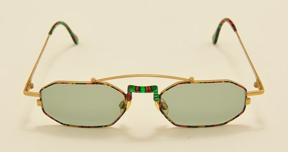 Robert Rudger 1050 octagonal shape / golden fantasy frame / 80s model / NOS / Made in Austria / new lenses / Vintage sunglasses