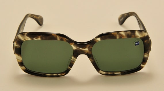 "Marwitz ""Portrait"" squared shape / acetate frame / amazing tortoise green shades / 70s / NOS / Polarized Lenses / Vintage sunglasses"