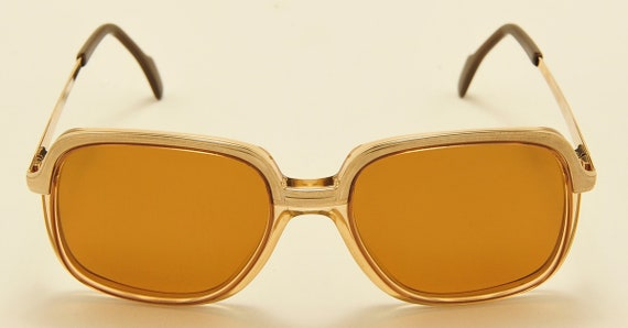 "Metzler ""DORADO 6605"" Golden frame / squared shape / Carl Zeiss Polarized Lenses / NOS / Vintage sunglasses"