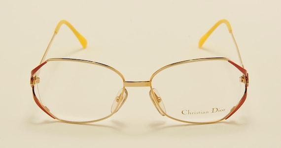 Christian Dior 2686 classic shape / golden and bronze frame / fine details / 80s model / NOS / Made in Austria / Vintage eyeglasses