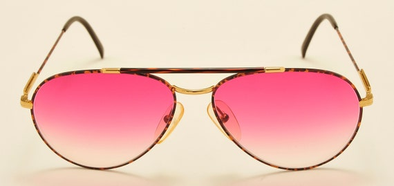 Carrera 5349 aviator teardrop shape / sport metal frame / pink lenses / Made in Austria / 80s model / NOS / Vintage sunglasses