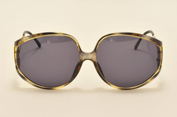 Christian Dior 2757 A 50 oversized shape / rare golden and optyl frame / 80s model / NOS / Made in Austria / Vintage sunglasses