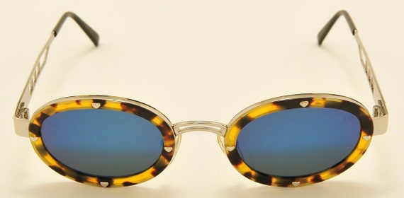"""Moschino by Persol """"MM3010S"""" oval shape/Made in Italy/Persol original tempered glass/NOS/90s model/Vintage sunglasses"""