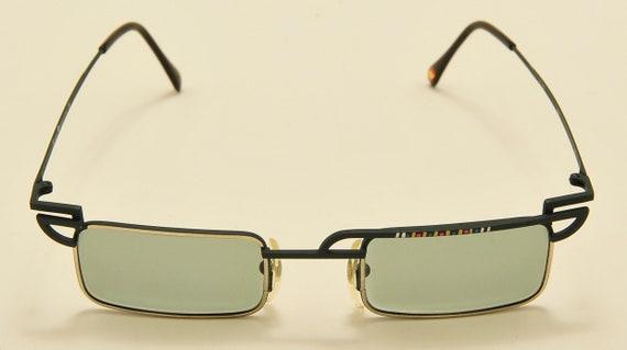 "Casanova ""DC 2"" squared shape / rare frame / 80s model / Made in Italy / NOS / special details / Vintage sunglasses"