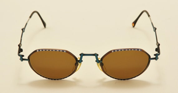CASANOVA C-03 MTC21 rare oval shape / special details / Made in Italy / 80s model / NOS / Vintage sunglasses