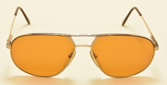 Lacoste 705F aviator shape / golden frame / NOS / 80s / Made in France / Skylet 1.5 Zeiss lens / Vintage sunglasses