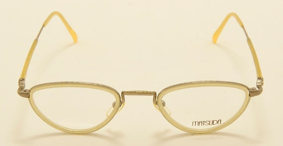 "Matsuda ""SW 21"" elegant taste / classic shape / Made in Japan / demo lenses / 80s model / NOS / Vintage eyeglasses"