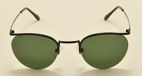 Romeo Gigli RG 17 TOUAREG (Matt black) semi-rimless / touareg model / Made in Italy / NOS / 90s / green lenses / Vintage sunglasses
