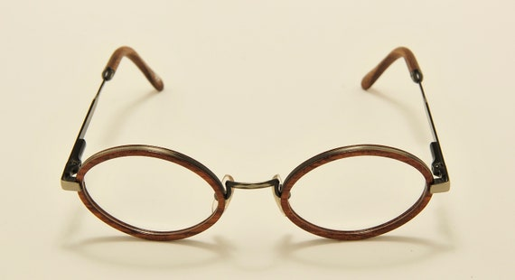 Woodlook TW1 oval shape / wood details / masterpiece frame / Made in France / 80s model / NOS / Vintage eyeglasses