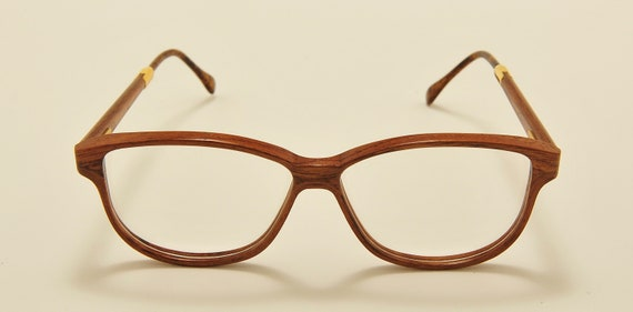 WOODLOOK MO2402 classic shape / wood masterpiece / handcrafted / Made in France / 80s model / NOS / Vintage eyeglasses