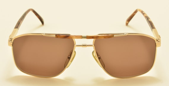 Couregges 8649 aviator shape / golden acetate frame / NOS / Made in France / Elegant taste / nice details / Vintage sunglasses